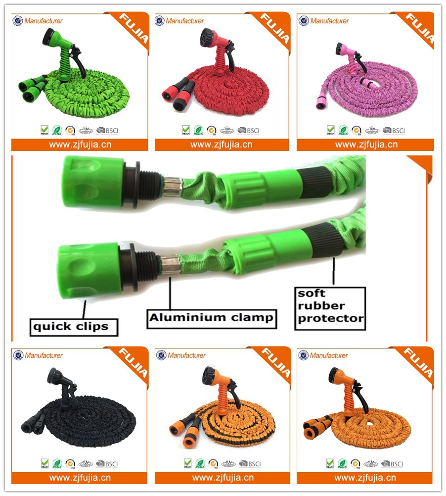 TV shopping products stretch hose/expandable garden hose with spray nozzle