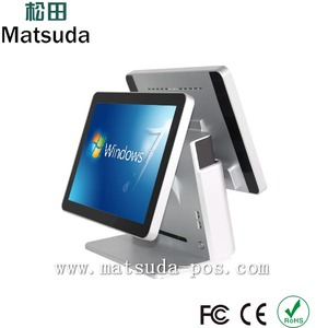 15inch all in one touch cash pos system for bank with a bulit-in loudspeaker