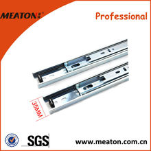 Factory made cheap 35mm extra long steel draw slide, metal drawer slide rail