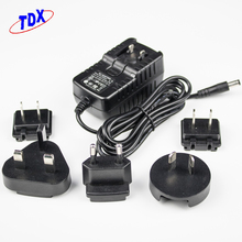 High quality max 10w 3V to 12V 0.1a to 2a universal ac dc interchangeable power adapter with EU US UK AU plug