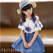 Summer European and American fashion sleeveless clean color matching print skirt dress Parent-child dress