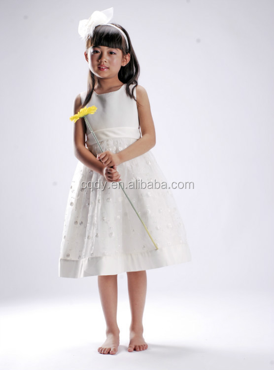 31fd9d8b5e Fashion White Princess Birthday Dress for Girl of 7 Years Old Birthday Dress  for Teenager Girl