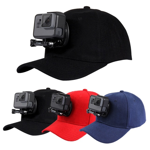 2018 Good price for Baseball Sun Cap <strong>Hat</strong> With Camera Buckle Mount For GoPro Action Camera Adjustable