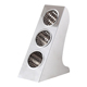 Upright stainless steel magnetic knife and cutlery holder for table