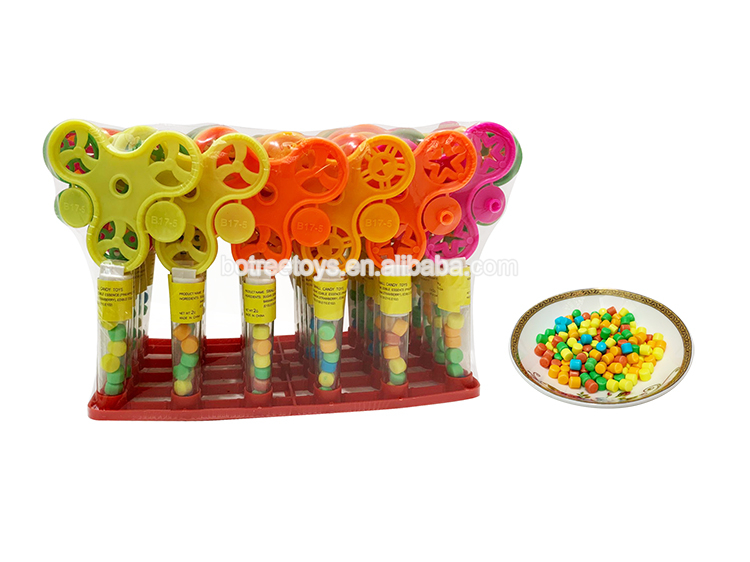 Fingertip Gyro Rotating Toy with 2g Candy Tube