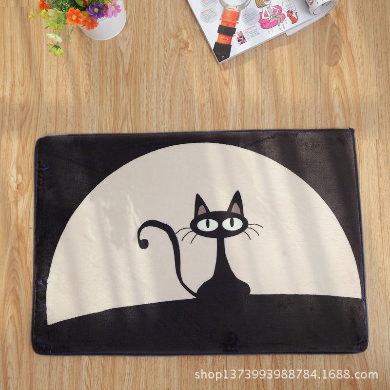 achetez en gros noir chat tapis en ligne des grossistes noir chat tapis chinois aliexpress. Black Bedroom Furniture Sets. Home Design Ideas