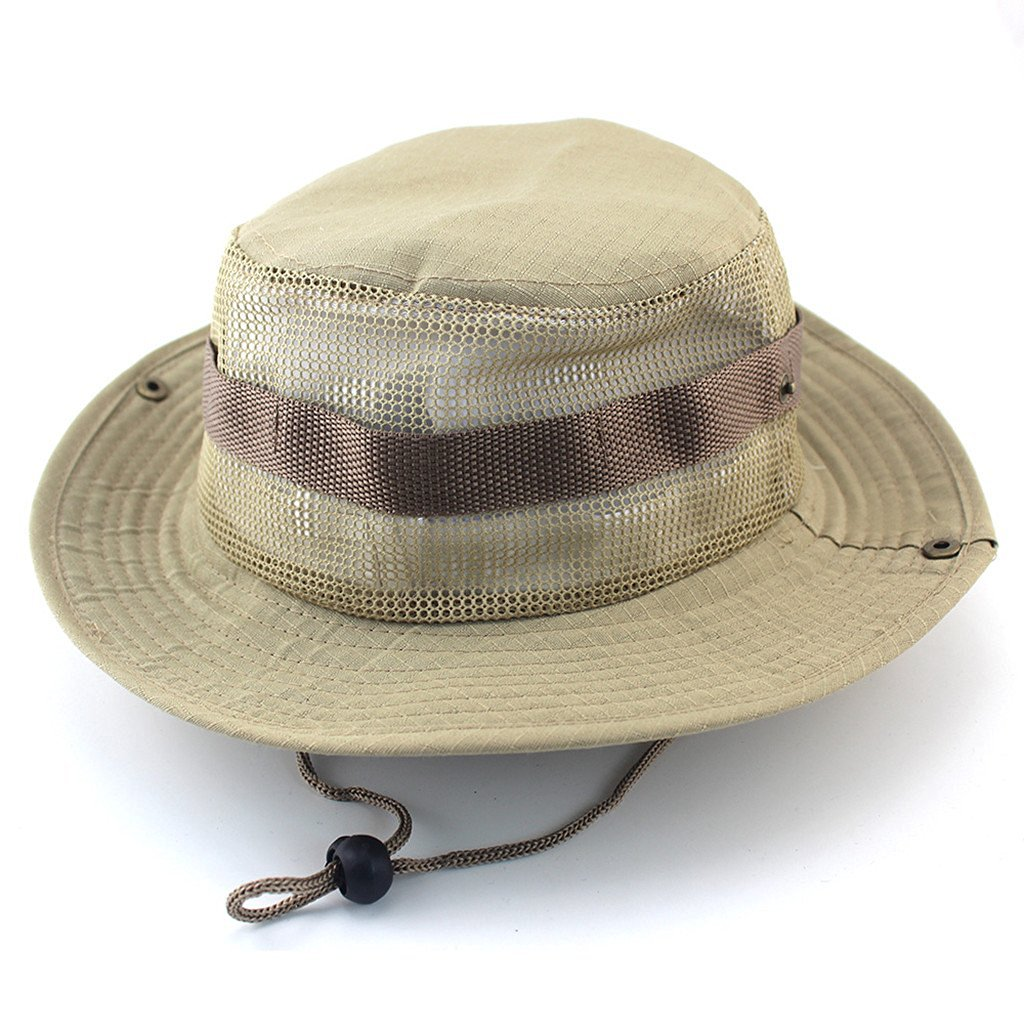 Camouflage Military Boonie Hat Tactical Ripstop Assault Combat Caps Wide Brim Bucket Camping Hunting Fishing Boonie Hat