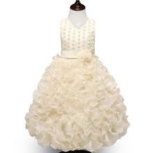 59d33153e5e88 Mode Fleur Fille Robe De Fête D anniversaire De Mariage Princesse Bébé Filles  Vêtements Enfants