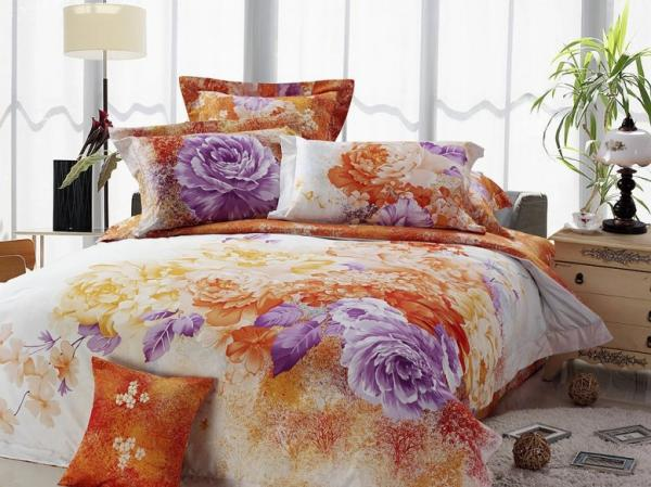 New Beautiful 4PC 100% Cotton Comforter Duvet Doona Cover ...