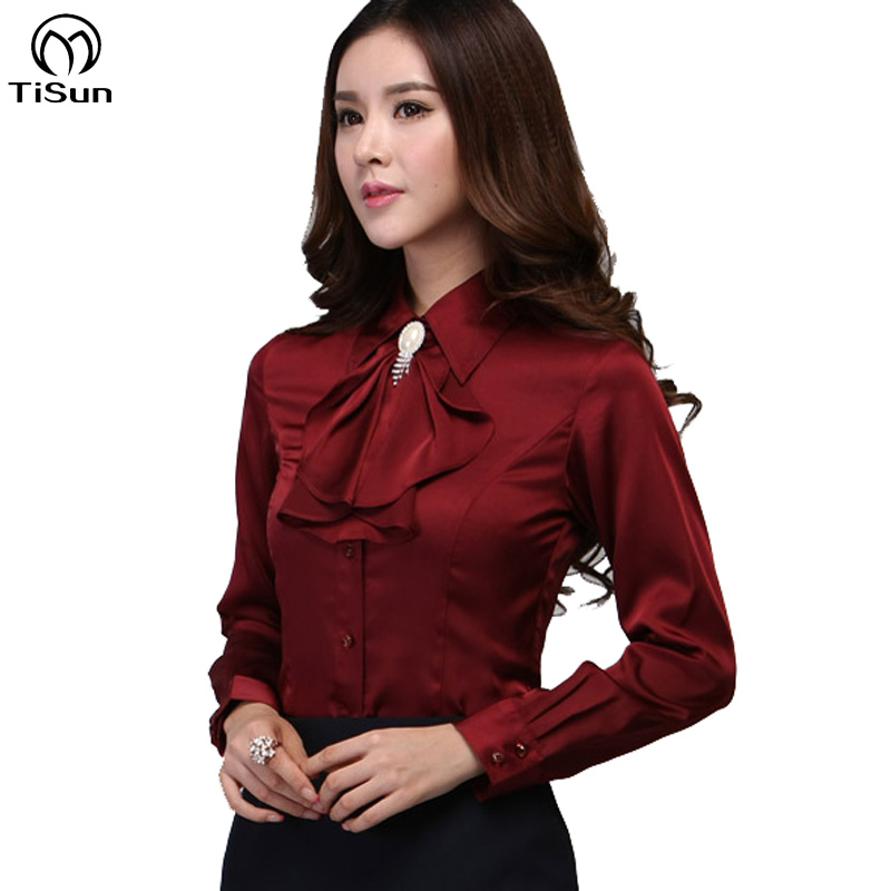 9cc74035bf12f Buy Blouse Shirt 2015 New Women Satin Silk S-XXXL long sleeve romantic  gorgeous blouses top ladies office shirts casual shirt in Cheap Price on  m.alibaba. ...