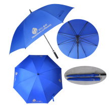 best compact windproof fiberglass long handle rain and wind golf umbrella for blue