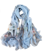 Low Price Digital Print Silk Scarfs Made in India