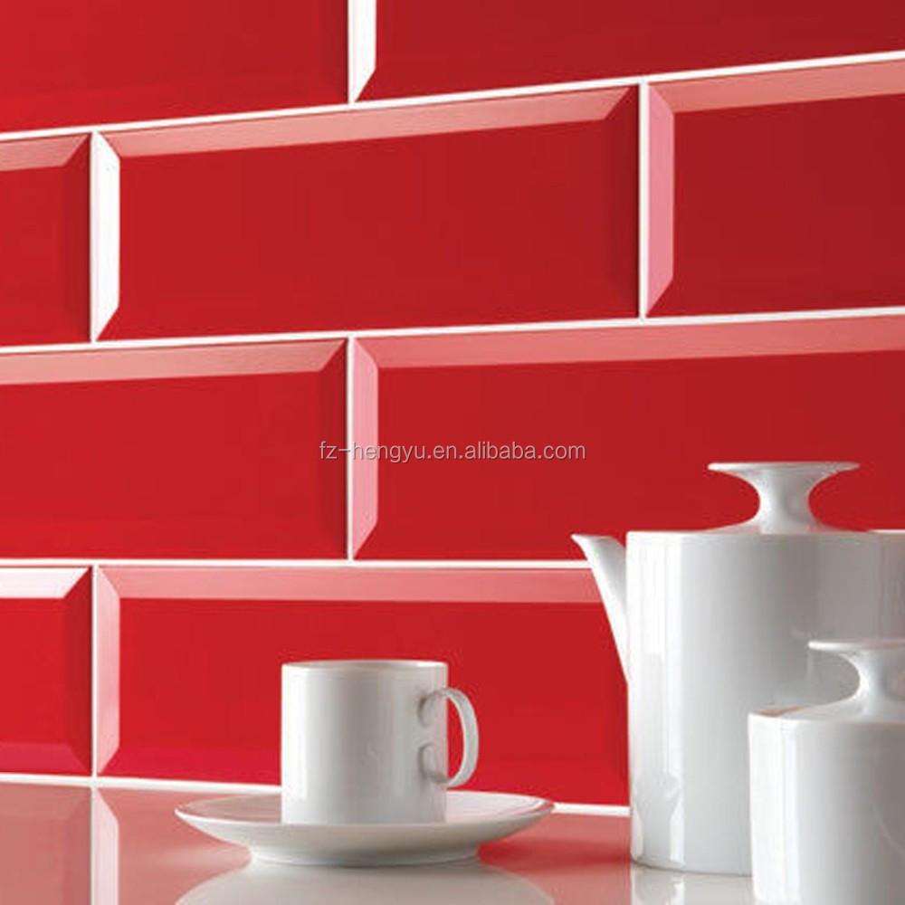 100x200mm metro rode keuken keramische glans wandtegels tegels ...