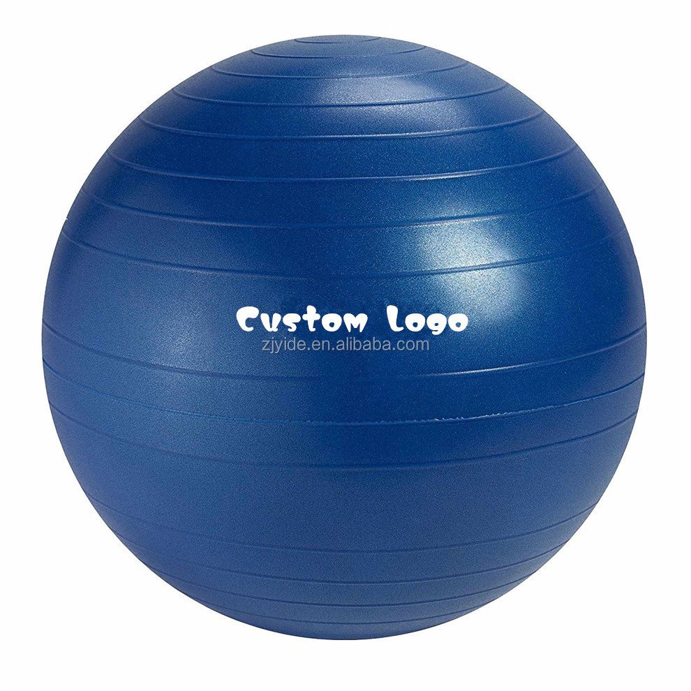 Anti-burst Exercise Balance Stability Fitness Yoga Ball With Air Pump