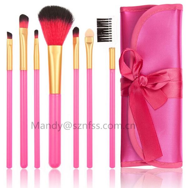 Free Sample 7 Pcs Makeup Brush Set,Private Label Makeup Brushes ...