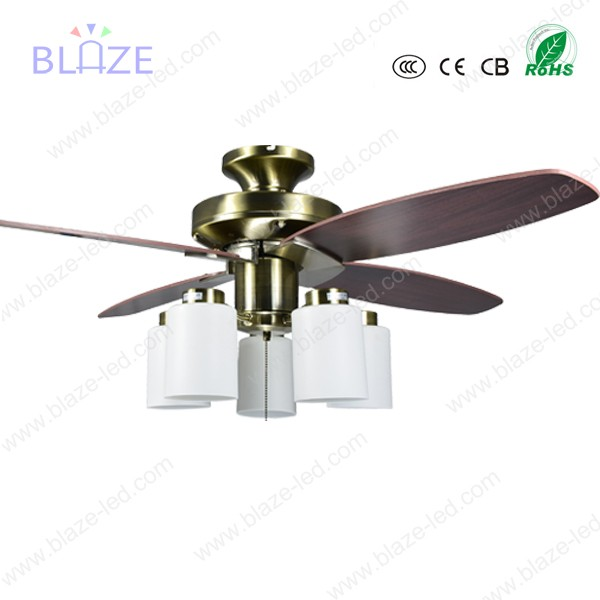 New designed crystal copper decorative ceiling fan with hidden blades with led lights