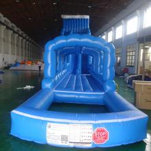 Outdoor 20 meters hippo kids/adults inflatable water slide tubes used swimming pool slide