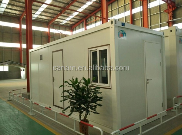 Green Modern Prefabricated folding container house with a toilet