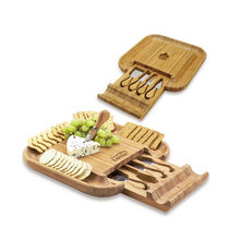 Promotional Bamboo cheese board set for weeding or birthday gift