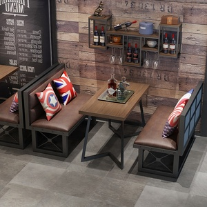 Industrial style customized retro coffee cafe table restaurant table