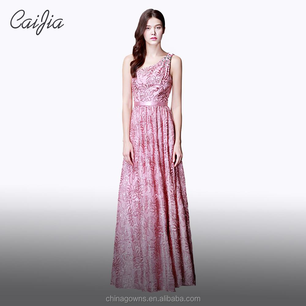 Encuentre el mejor fabricante de vestidos largos de noche color rosa ...