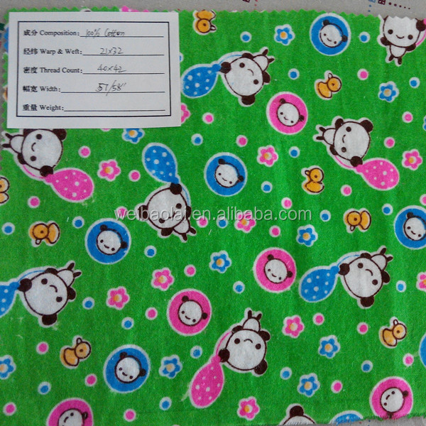 printed brushed woven flannel ready goods in stock for kids garment