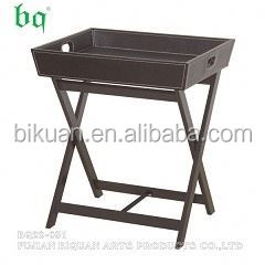 BQ leather folding picnic table and bench