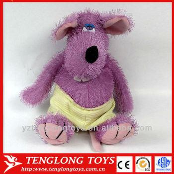 Plush Ugly Toy Wear Underwear Fluffy Purple Hippo Buy Plush Ugly