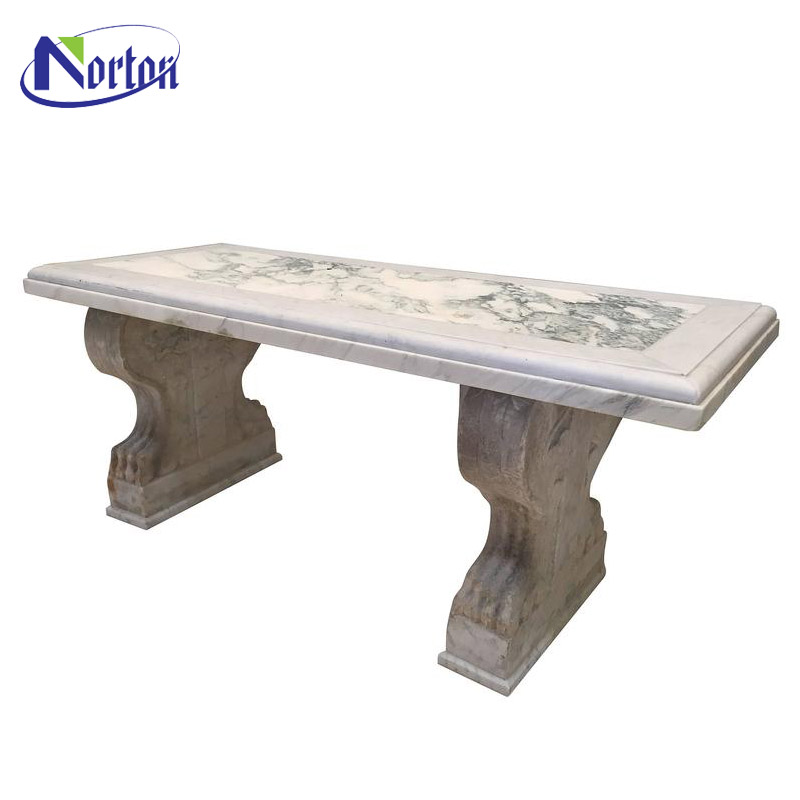 Cheap garden decor sunset red marble bench for sale NTMTA-011Y