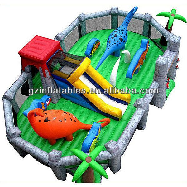 Dinosaurio Juegos Inflables Castillo Combinado Con Tobogan Para Los