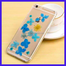 Real Flower tpu case skin cover for iPhone 6, Fancy flower cover for iPhone 6 Plus
