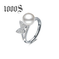 Latest Designs Fashion Pearl Ring Popular Finger Ring Design Women Ring Italian Jewelry Factory Price