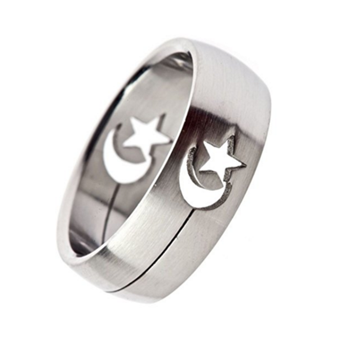 Custom Engagement Rings Islamic For Islam Muslim MenMuslim Moon And