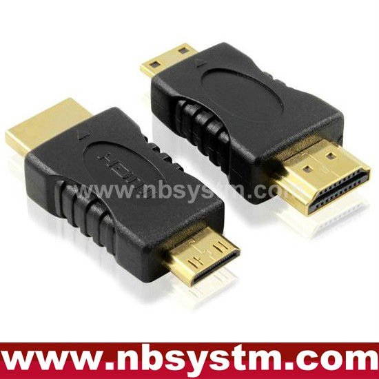 HDMI Type A Male to Mini HDMI Type C Male Adapter Connector HDTV