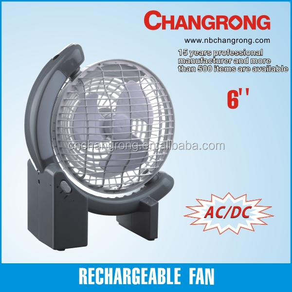 Mini Best Quality Battery Powered Ac/ Dc Operated Car Fan With Led ...