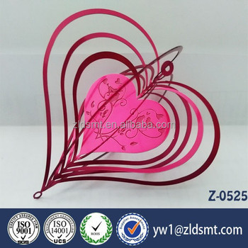 Heart Shaped Hanging Wind Chime Type Decoration Valentines Day Gift