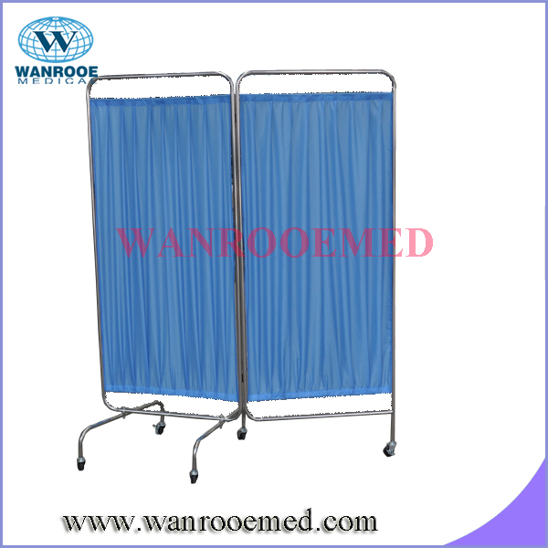hospital ward folding screen with washable curtain