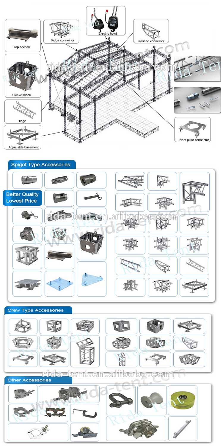 concert hanging system speaker truss roof truss systems