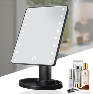 2018 Factory Selling Cheapest 16/22 Led Makeup Mirror, Desktop 360 degree Rotation Adjustable Led Makeup MIrror