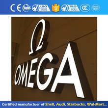 3D Stainless Steel AcrylicChannel Letter Led Signage Eye-Catching Customizable Sign Epoxy Resin Frontlit