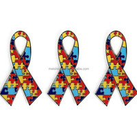 AUTISM AWARENESS RIBBON LAPEL PIN 1.25
