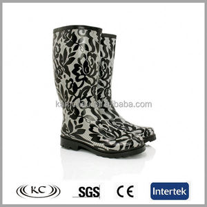 hotsale high quality classical rubber women s rain boots size 12