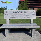 Natural Sone Marble Granite Memorial Benches for Sale