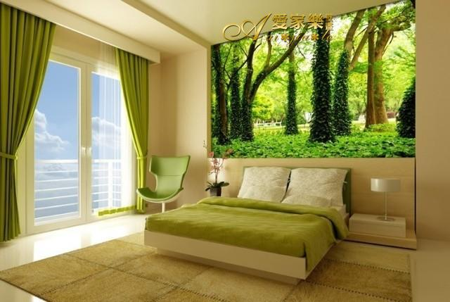 Aliexpress Com Buy Large Custom Mural Wallpapers Living: Custom Size: Large 3D Trees Landscape Tree Forest Mural