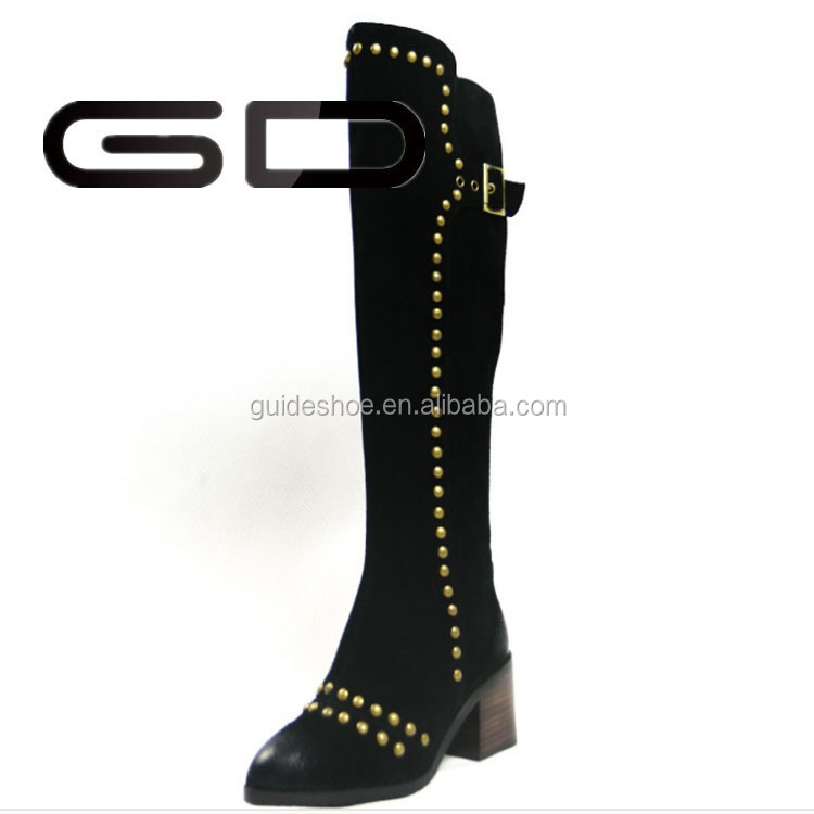 GD New style Women Boots with Gold Rivet Wholesale
