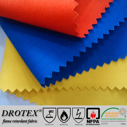 EU standards washable anti-static 12*10 satin C/N fireproof fabric