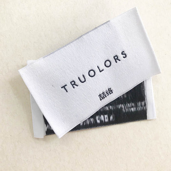 Personalized high quality garment accessories labels woven clothing labels for jeans