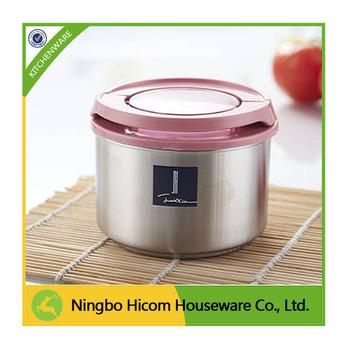 480ml Stainless Steel Coffee Storage Jar With Plastic Lid Jars Tea Sugar
