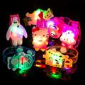 5pcs set Cartoon watch LED Glow light up emitting Hand Ring toys Wristband Bracelet Kid Fluorescent