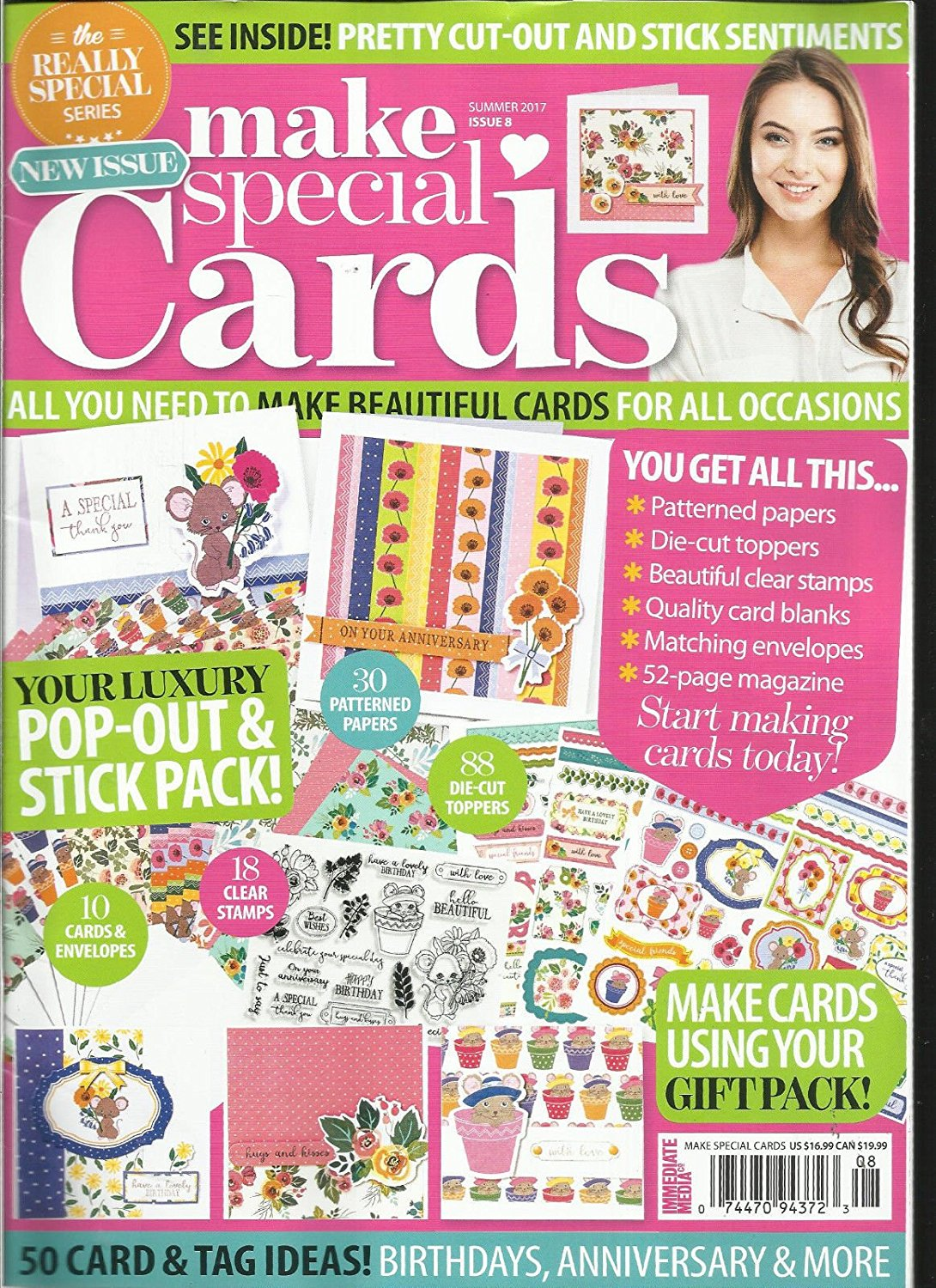 MAKE SPECIAL CARDS MAGAZINE, SUMMER, 2017 ISSUE, 08 ( FREE GIFTS ARE MISSING )